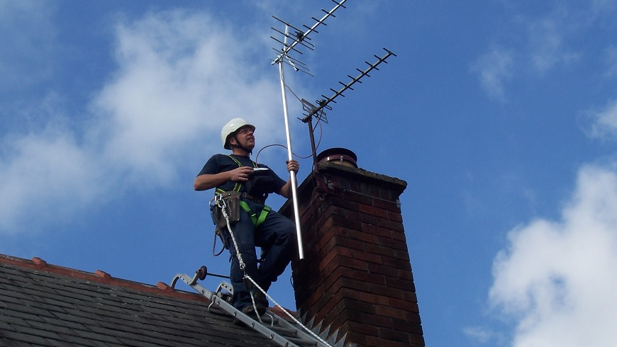 Image result for fixing aerial tv